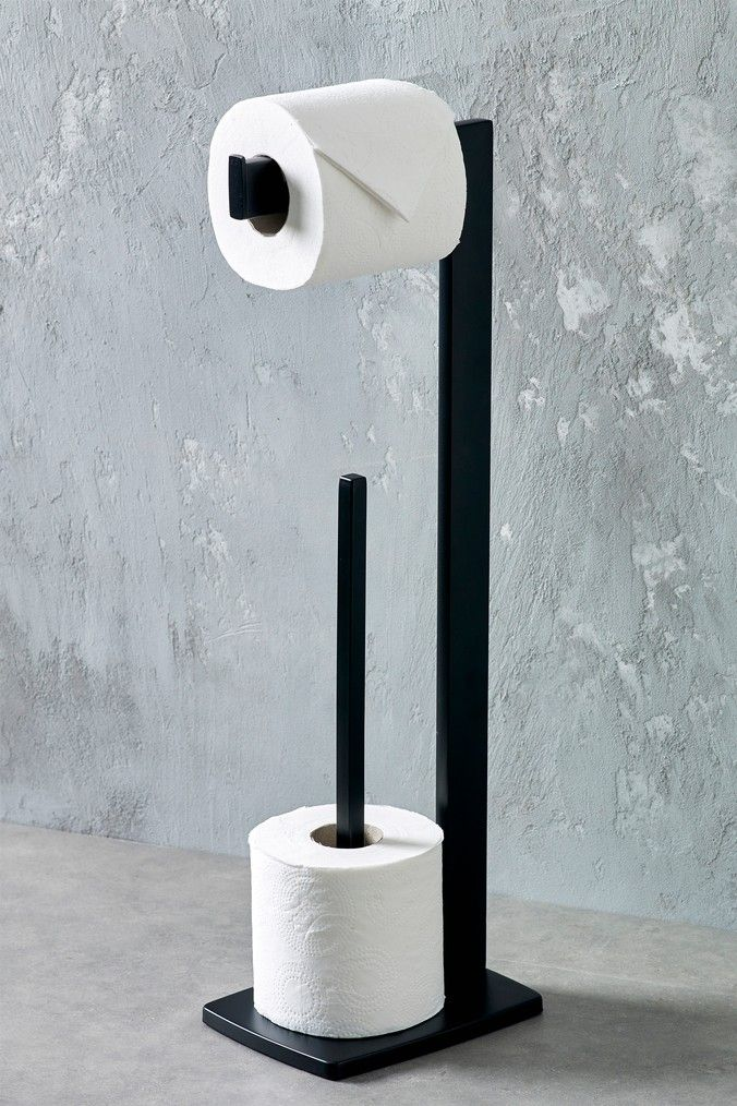 Next Moderna Toilet Roll Holder Black Toilet Roll Holder Toilet Roll Holder Black Free Standing Toilet Paper Holder Toilet roll holder stand