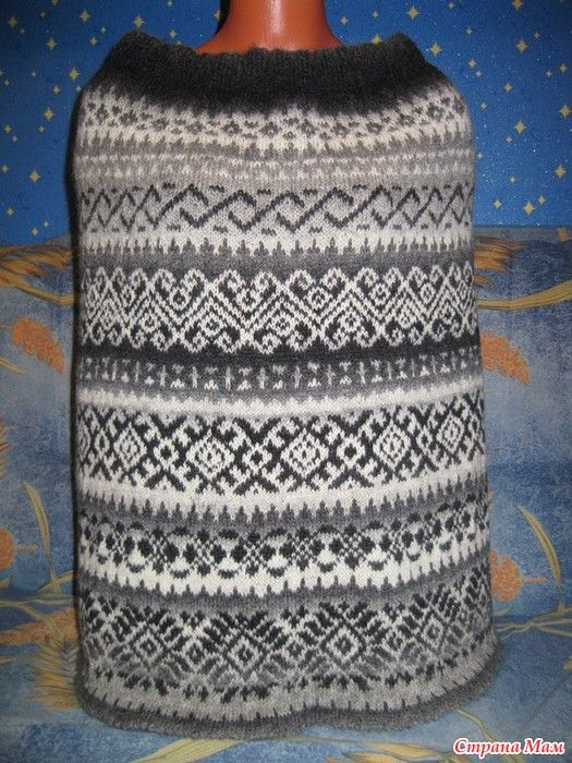 Жаккардовая юбка на осень. Спицы - Страна Мам