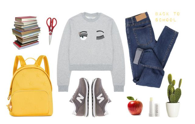 """""""back to school"""" by alenaganzhela on Polyvore featuring мода, New Balance, Cheap Monday, Tommy Hilfiger, WMF и Fresh"""