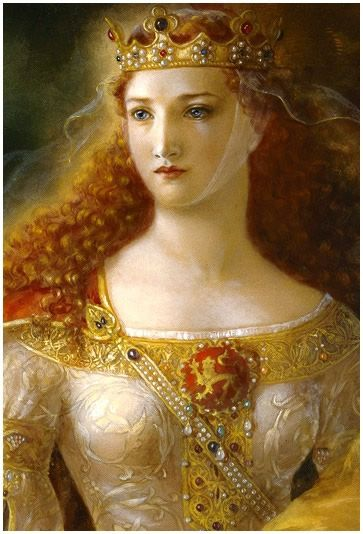 Eleanor of Aquitaine was, without doubt, one of the most wealthy women of the High Middle Ages. A devout Christian, she was partly responsible for the 2nd Crusade, which she ingeniously 'sold' to the ruling male-class by using the supposed site of Mary Magdalene's grave as the launching point of her 'Amazons'. Her full story is too detailed to sum up here, but worthy of a little Google search. :-)