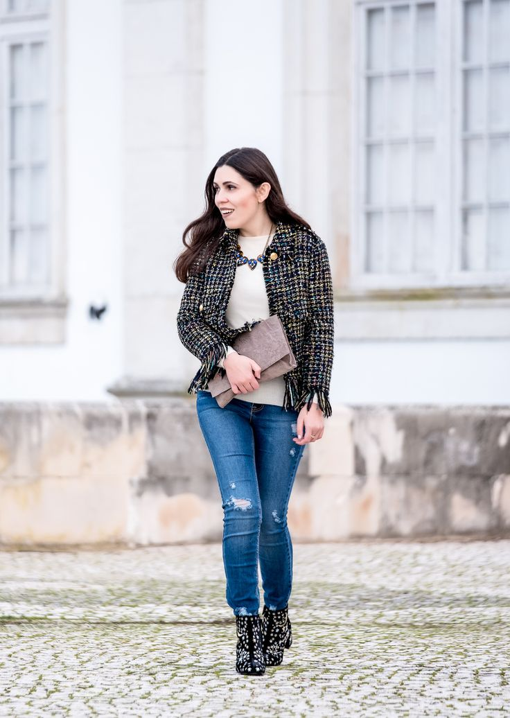 Why you need a tweed jacket -  #black #Blue #Bold #Boots #Brown #buttons #Cashmere #clutch #Colorful #crystals #embroidered #flowers #Gold #Jacket #Jeans #Mango #moon #necklace #nude #Sfera #stars #Stradivarius #style #Suede #Sweater #Tips #Tweed #Velvet #white #zara