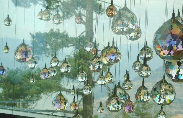 Some of the 3.5 million Swarovski crystals at Sparkling Hill resort in Vernon, B.C.