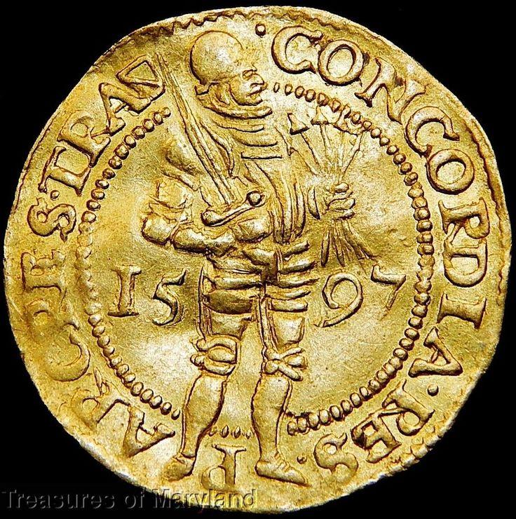 """1597 UTRECHT """"STANDING KNIGHT"""" DUTCH GOLD DUCAT! sku #DG1"""