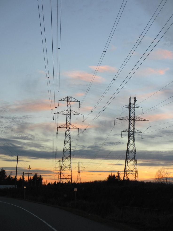 Powerlines at Sunset
