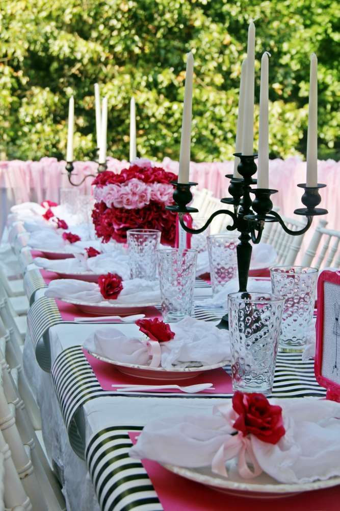Fashion Show Birthday Party Ideas & 536 best Table Settings images on Pinterest | Birthdays 16th ...