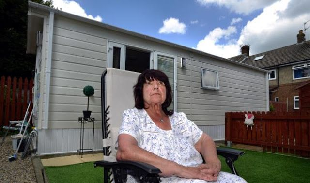 Bradford Council orders Marion Majors to move out static caravan in her Eccleshill garden