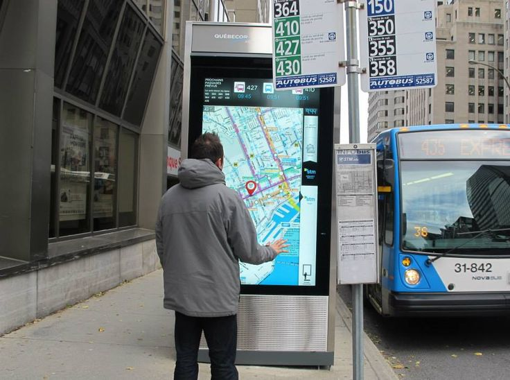 Montreal's STM Bus Shelters Get All-New Touch Screens