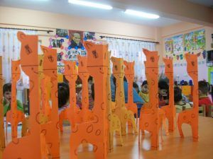 3d giraffe craft idea