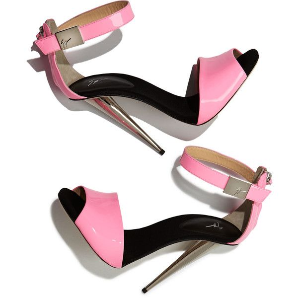 High-Heel Neon Sandal, Neon Pink ($385) ❤ liked on Polyvore featuring shoes, sandals, heels, neon heel sandals, cocktail shoes, evening sandals, high heel shoes and holiday shoes