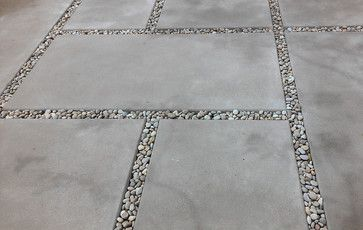 Concrete Patio Design Ideas, Pictures, Remodel, and Decor - page 33  can this be nature stoned into the spaces?  I wouldn;t want to be chasin them around the pavers and steppin on them like legos!  Oh no!