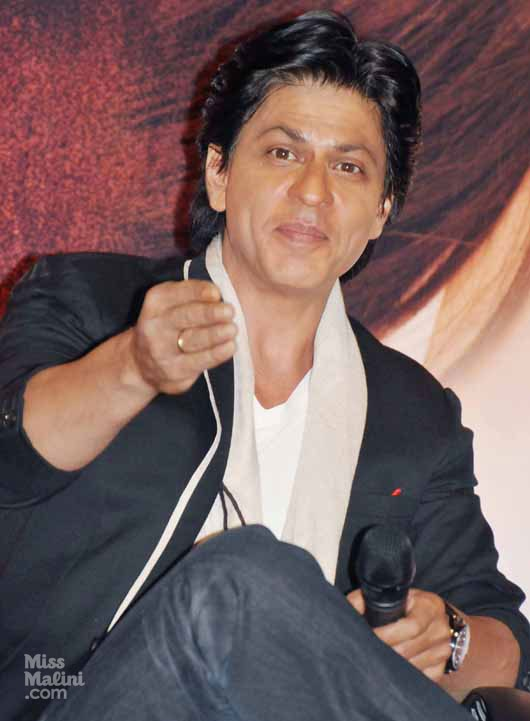 Shah Rukh Khan with an expectant expression