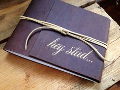 Leather boudoir book for him. Great for an anniversary or wedding gift! // www.nicoleleonemiller.com