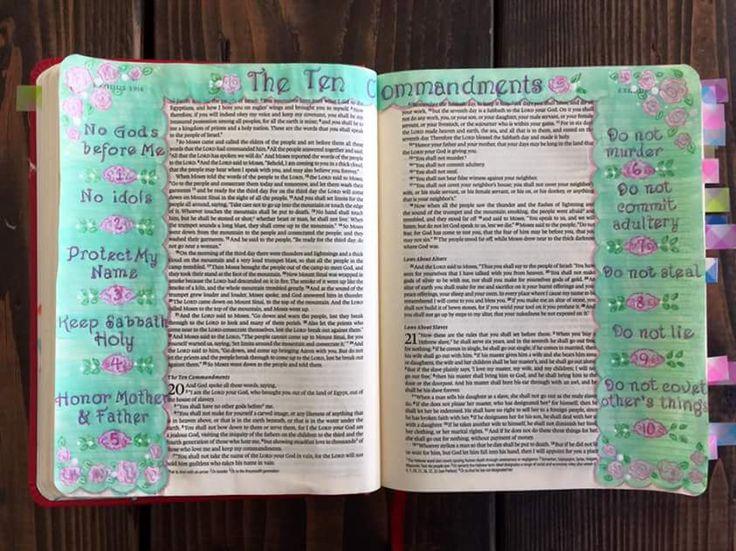 The Ten; Bible journaling, marginalia