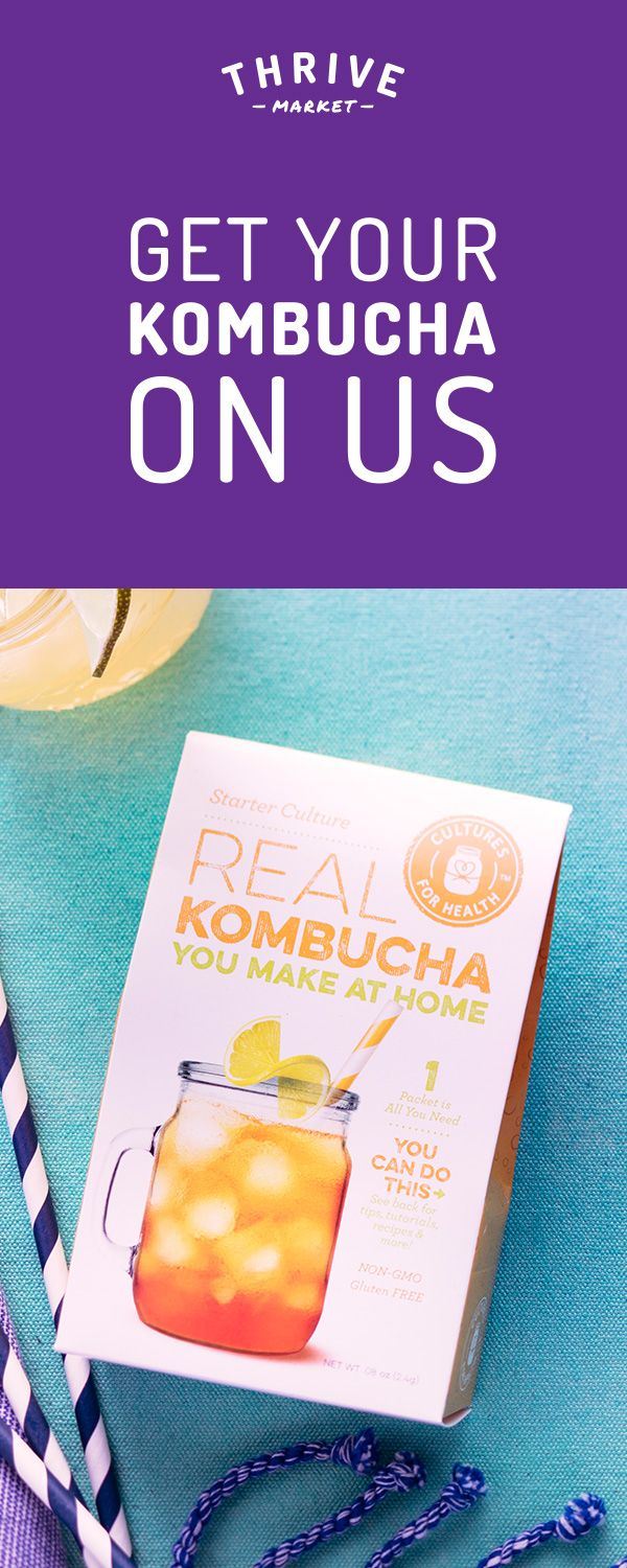Get the best make-at-home kombucha kit for FREE at Thrive Market! On a mission to make healthy living easy and affordable for everyone, Thrive Market offers premium, organic foods and healthy products up to 50% off every day with delivery right to your door. Get your FREE kombucha kit today while supplies last, and start saving!