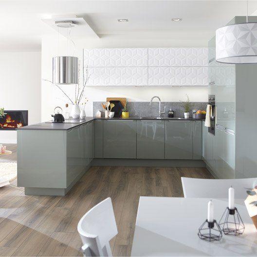 76 best kitchen project images on pinterest beige - Meuble cuisine leroy merlin delinia ...