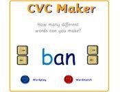 CVC Maker on http://www.crickweb.co.uk/Early-Years.html