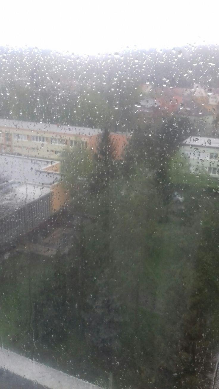 Déšť u  nás v Kralupech