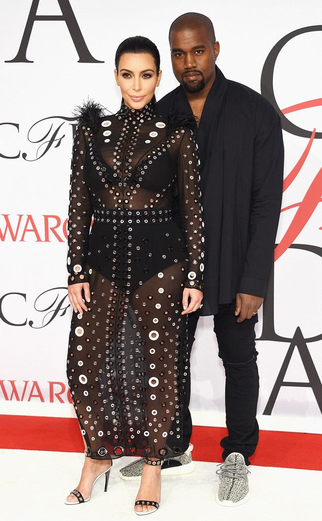 Kim Kardashian & Kanye West Make Their First Red Carpet Appearance Since Announcing Baby No. 2 at the 2015 CFDA Fashion Awards  Kim Kardashian, Kanye West, CFDA 2015