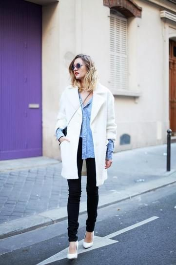Best Outfit Ideas For Fall And Winter  30 Outfits Thatll Make You (Really) Want a White Coat