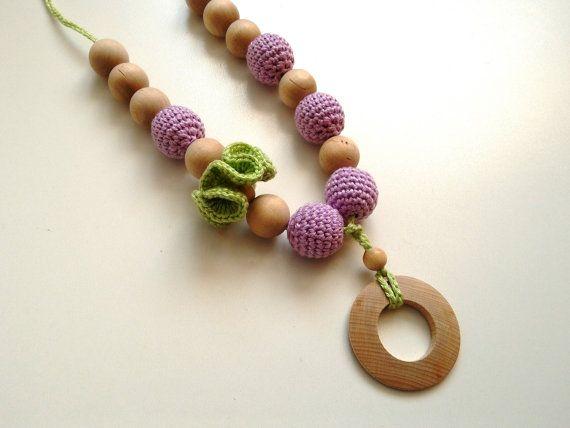 nursing necklace teething necklace mommy and baby by RedOgeeSheep #nursingnecklace #mommyandbabynecklace