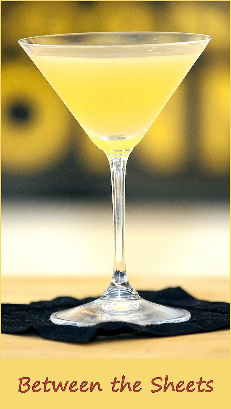 image source: http://www.dishmaps.com/between-the-sheets-cocktail/30530 A strong and provocative drink… Ingredients 1 oz brandy 1 oz cointreau 1 tsp fresh lemon juice 1 oz light rum . Preparation Pour the ingredients into a mixing glass full of crushed ice. Shake and strain into a cocktail glass. Related posts: Mai Tai Banana Daiquiri Ramos Gin Fizz Zombie Aviation