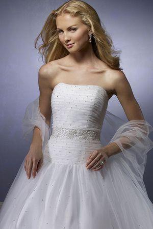 Vestido de noiva Com Grânulos Cauda Médio Sem Alças Sereia