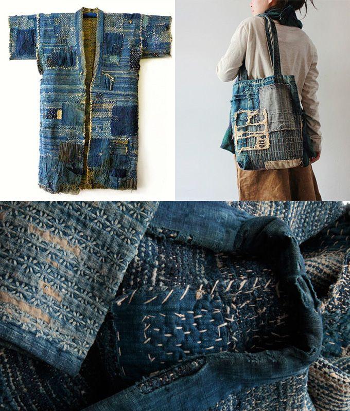 Sashiko techniek: een 17e -eeuwse, Japanse recycletechniek om kleding te repareren, te beschermen en te versterken. Textielfabrique: nieuwe webshop voor duurzame stoffen en garens!