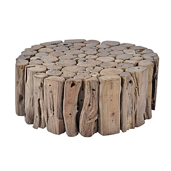 Tropica Round Woody Coffee Table, Large by Soundslike HOME