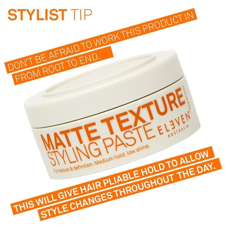 ELEVEN Australia Matte Texture Paste, great for creating awesome hair texture.