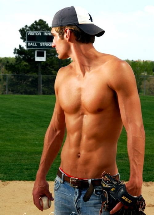 I think all baseball players should play shirtless....That's for my sister!