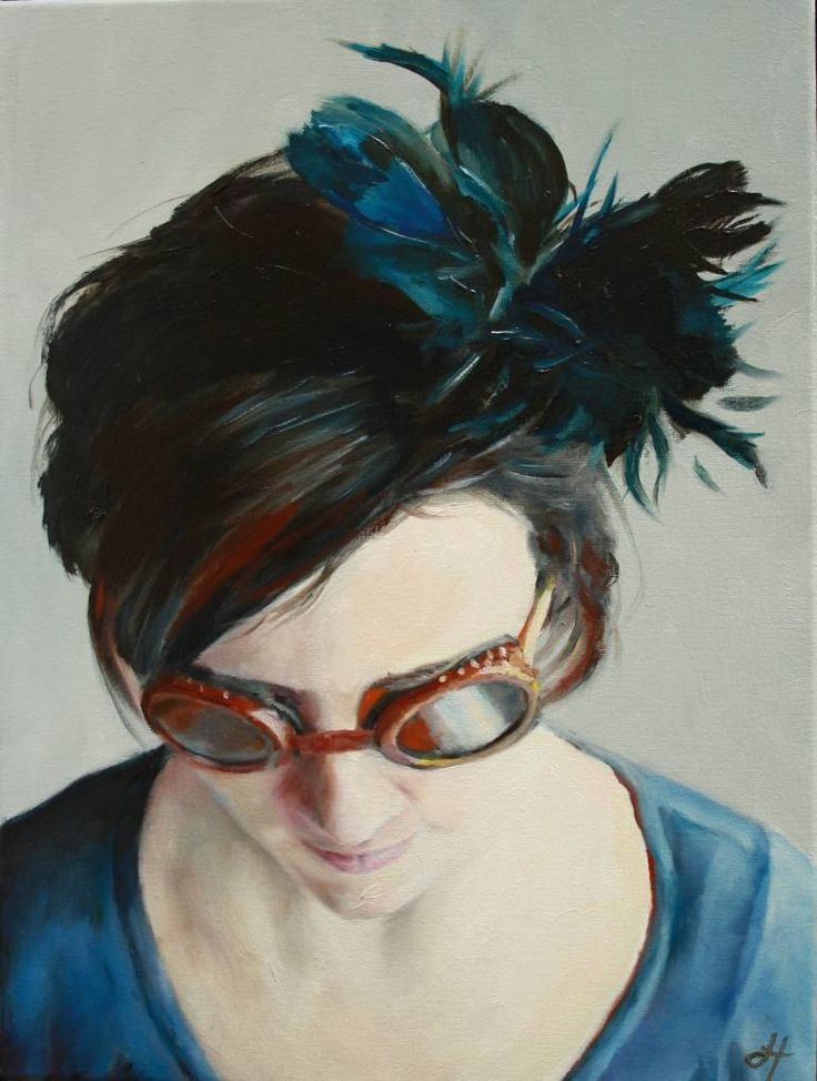 """Saatchi Art Artist Danielle ter Hofstede; Painting, """"Veiled XI"""" #art"""