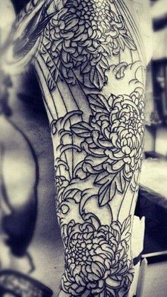 Top 10 Elegant Chrysanthemum Tattoos (6)