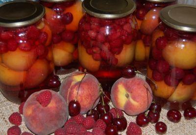 Компоты плодово-ягодные