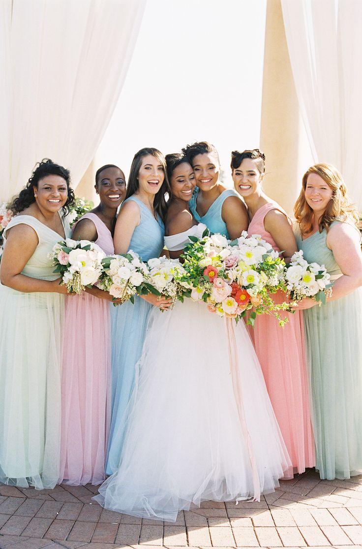 The 25 best lazaro bridal ideas on pinterest lazaro dresses california pastel garden inspired wedding mismatched bridesmaid dressesbridesmaidslazaro ombrellifo Choice Image
