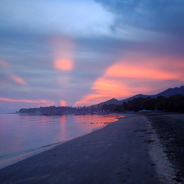 Red sky in the morning - Shepherds warning! But very pretty all the same. First morning sunrise in Pemuteran.