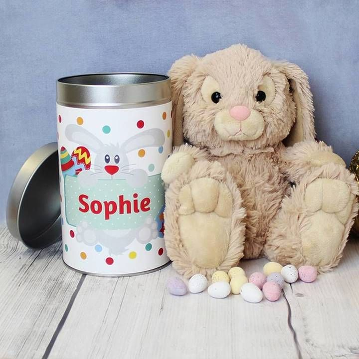 43 best personalised easter gifts images on pinterest hope and willow easter bunny in a tin negle Image collections
