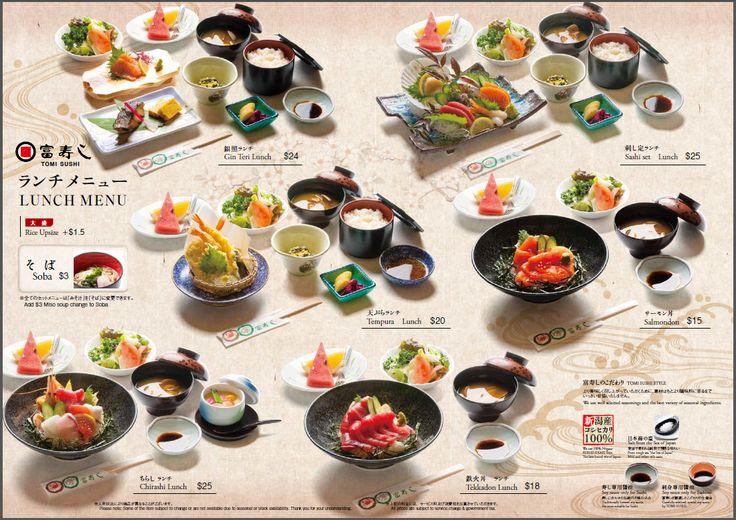 sushi menu design - Google Search