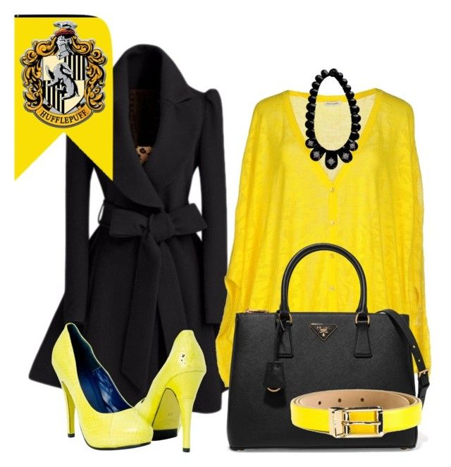 """Hufflepuff inspired outfit"" by hogwartsinspired on Polyvore featuring Bea Yuk Mui, Miriam Salat, Prada and Dolce&Gabbana"