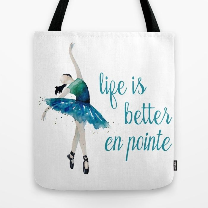 Dance Tote Bag by The Willow Wood Studio | Society6