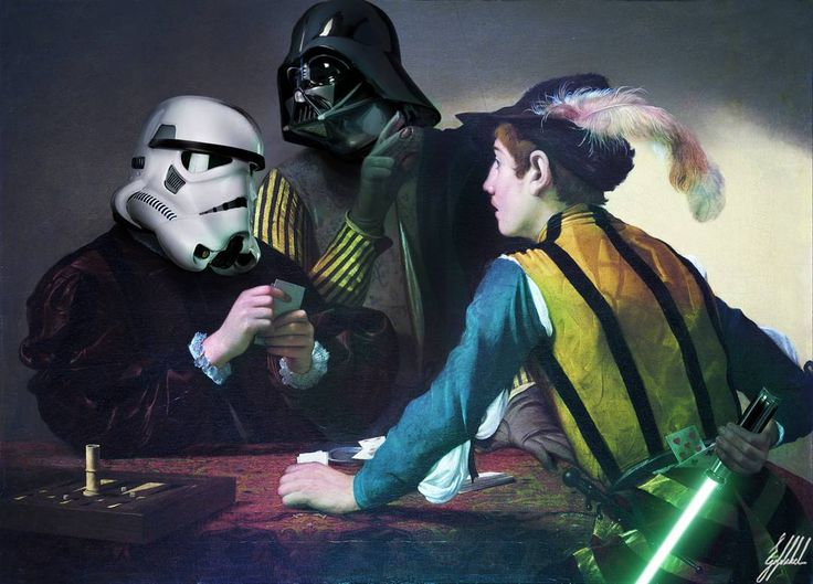 #starwars #darthvader #stormtrooper #painting #caravaggio #art #artwork #photomanipulation  What If Darth Vader supports you in your life.  The Cardsharps, by Caravaggio.