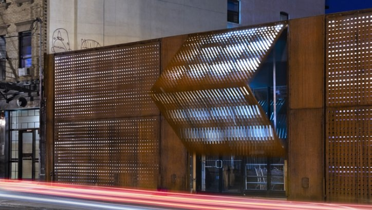 operable corten shutters:  Wyckoff Exchange, Brooklyn, NY, United States  by: Andre Kikoski Architect