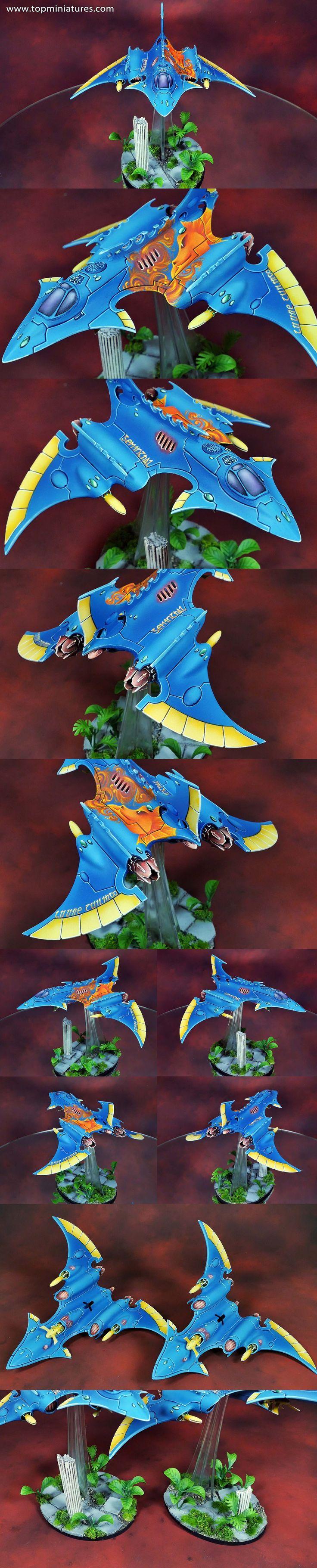 Warhammer 40k elder hemlock wraithfighter with dragon freehand