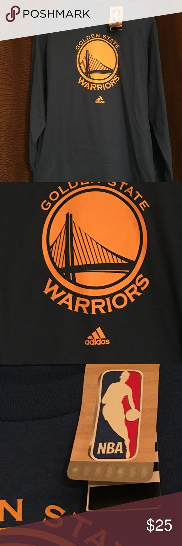 Golden State Warriors - Long Sleeve Tee Brand new, never worn. Men's Golden State Warriors long sleeve tee shirt. Makes a great Christmas gift! Comes from a non-smoking home. Adidas Shirts Tees - Long Sleeve