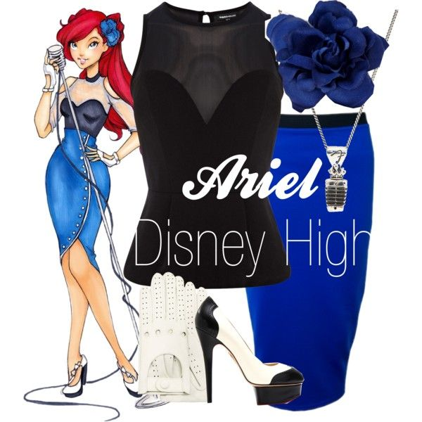 """""""Ariel Disney High"""" by amarie104 on Polyvore"""