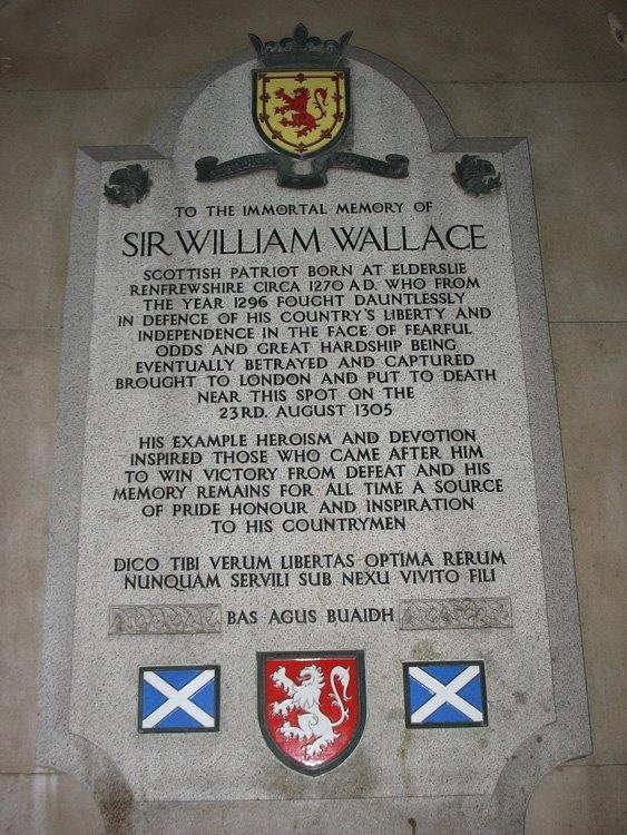 Scottish legend, number five. William Wallace, 1270-1305.