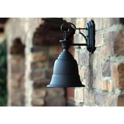 Y Decor Liberty 1-Light Black Outdoor Wall Mount Sconce-EL54304-1BL - The Home Depot