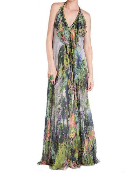 Dress - Lisa Brown - Poppy - Misty Gardens - Floral - Silk - Formal Dress - Wedding Dress - Bridesmaid Dress - Graduation $695