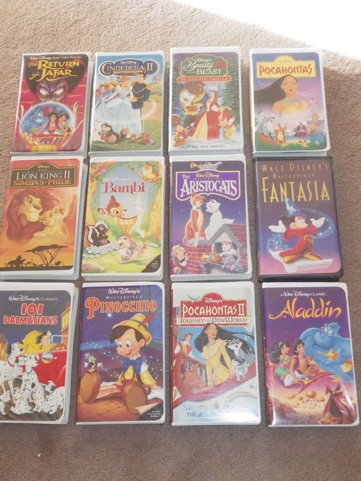 Lot 12 Disney VHS Tapes Movies, Masterpiece Black Diamond Gold Collection