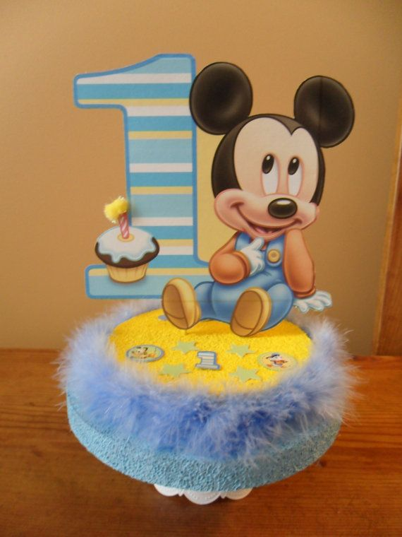 17 best ideas about mickey mouse cake topper on pinterest for Baby mickey mouse decoration