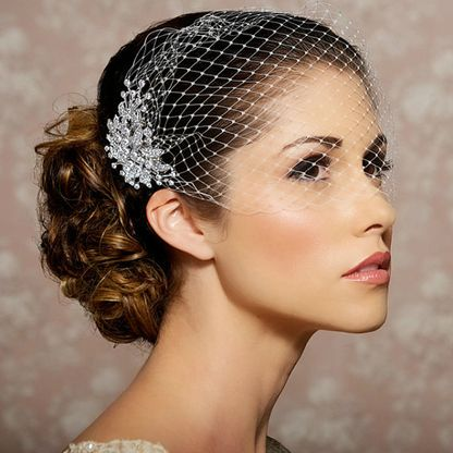 Blusher Bridal Veil and Comb - MyWedStyle.com